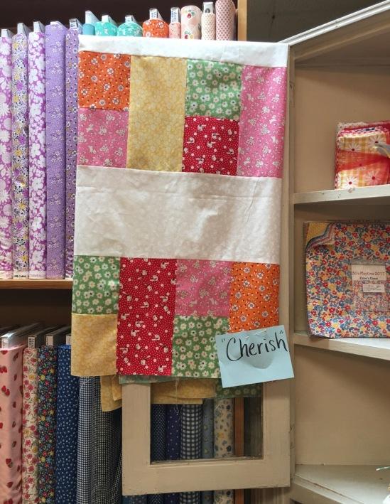 cherish 30's fabric patch