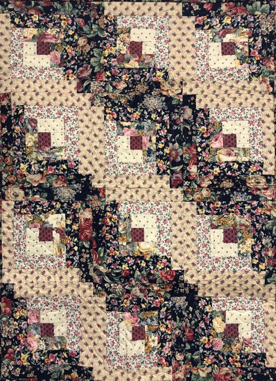 0131 log cabin floral